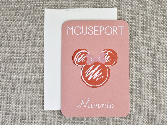 invitatie botez Disney pasaport Minnie 15706